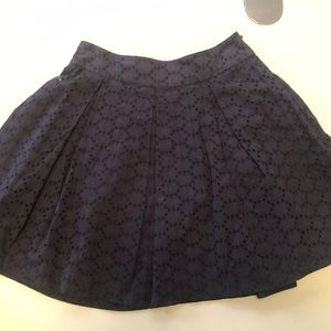 Jack Wills - Navy eyelet mini skirt - Size 2